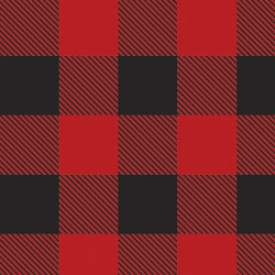 "Chemica Red /Black PLAID Pattern HTV 15"" by the Yard"