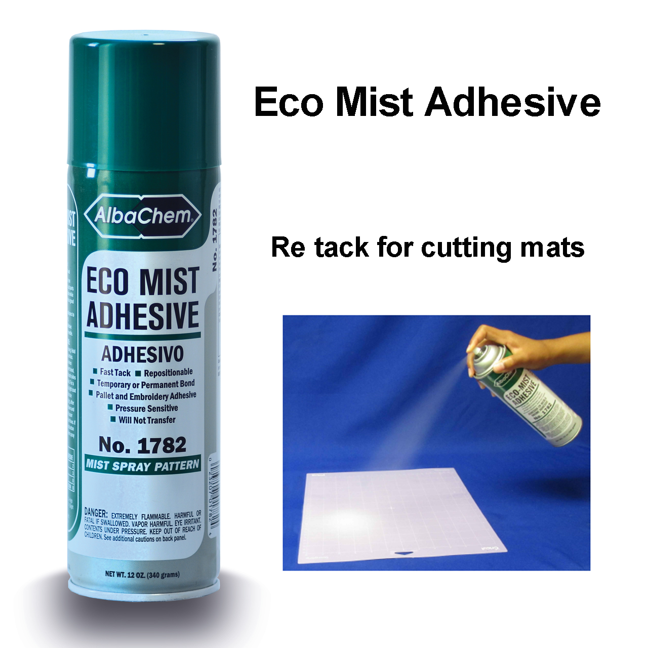 ECO mist adhesive for re tacking cutting mats.