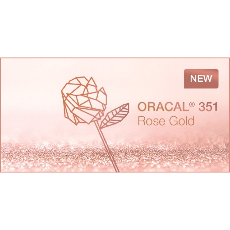 "Oracal 351 chrome Rose Gold (both sides) 12"" X 24"" sheet"