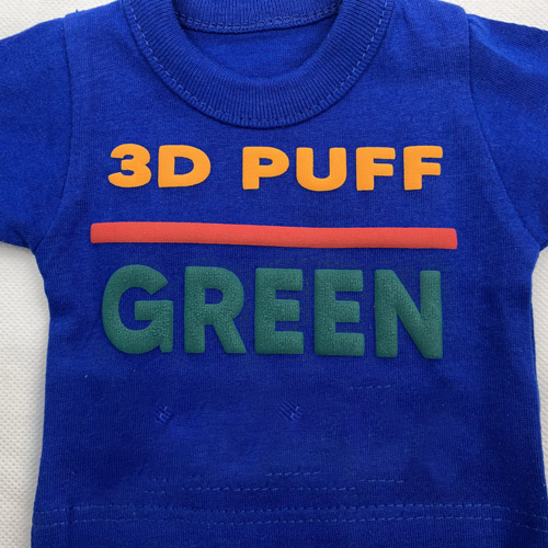 Fashion 3d PUFF Heat Transfer Vinyl - GREEN