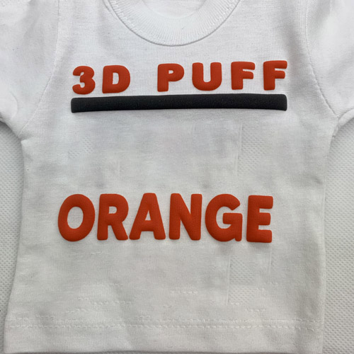 Fashion 3d PUFF Heat Transfer Vinyl- ORANGE