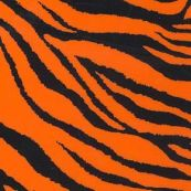 "Chemica 15"" x 12"" ZEBRA Fluo Orange Pattern Heat transfer"