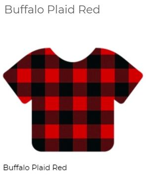 "Siser 12"" x 12"" Buffalo Red / Black plaid HTV Patterns"