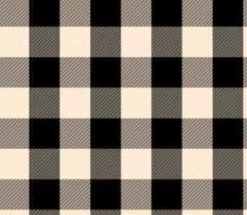 "SISER 12"" X 18 BUFFALO White / Black PLAID HTV PATTERNS"
