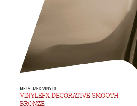 "METALIZED 12"" X 24"" VINYLEFX DECORATIVE FINE CHROME BRONZE"