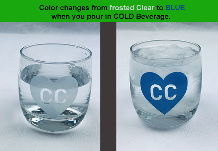Cold color changing vinyl CLEAR TO BLUE 12 x 12