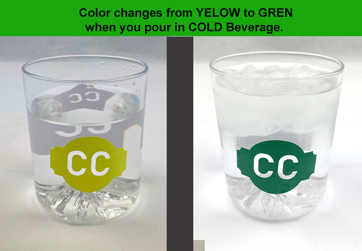 Cold color changing vinyl YELLOW to GREEN 12 x 12