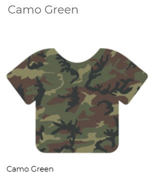 "Siser 12"" x 12"" Army Camouflage HTV Patterns"