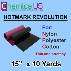 "HotMark Revolution for Nylon Cotton Polyster-Stretchy 15""X10Y"