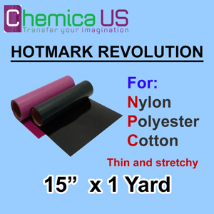 "HotMark Revolution for Nylon Cotton Polyster-Stretchy 15""x1Y"
