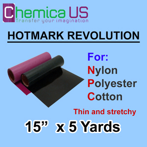"HotMark Revolution for Nylon Cotton Polyster-Stretchy 15""x5Y"