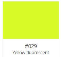 "ORACAL 6510 Fluorescent Cast Film 24"" X 1YD YELLOW"