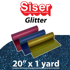 Siser Glitter Heat Transfer Vinyl 20in x 1 Yard