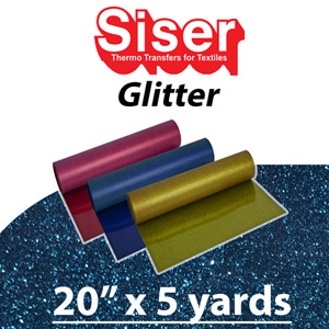 Siser Glitter Heat Transfer Vinyl 20in x 5 Yards