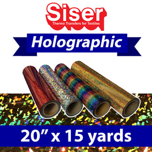 Siser Holographic Heat Transfer 20in x 15 Yards