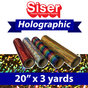 "Siser Holographic Heat Transfer 20"" x 3 Yards"