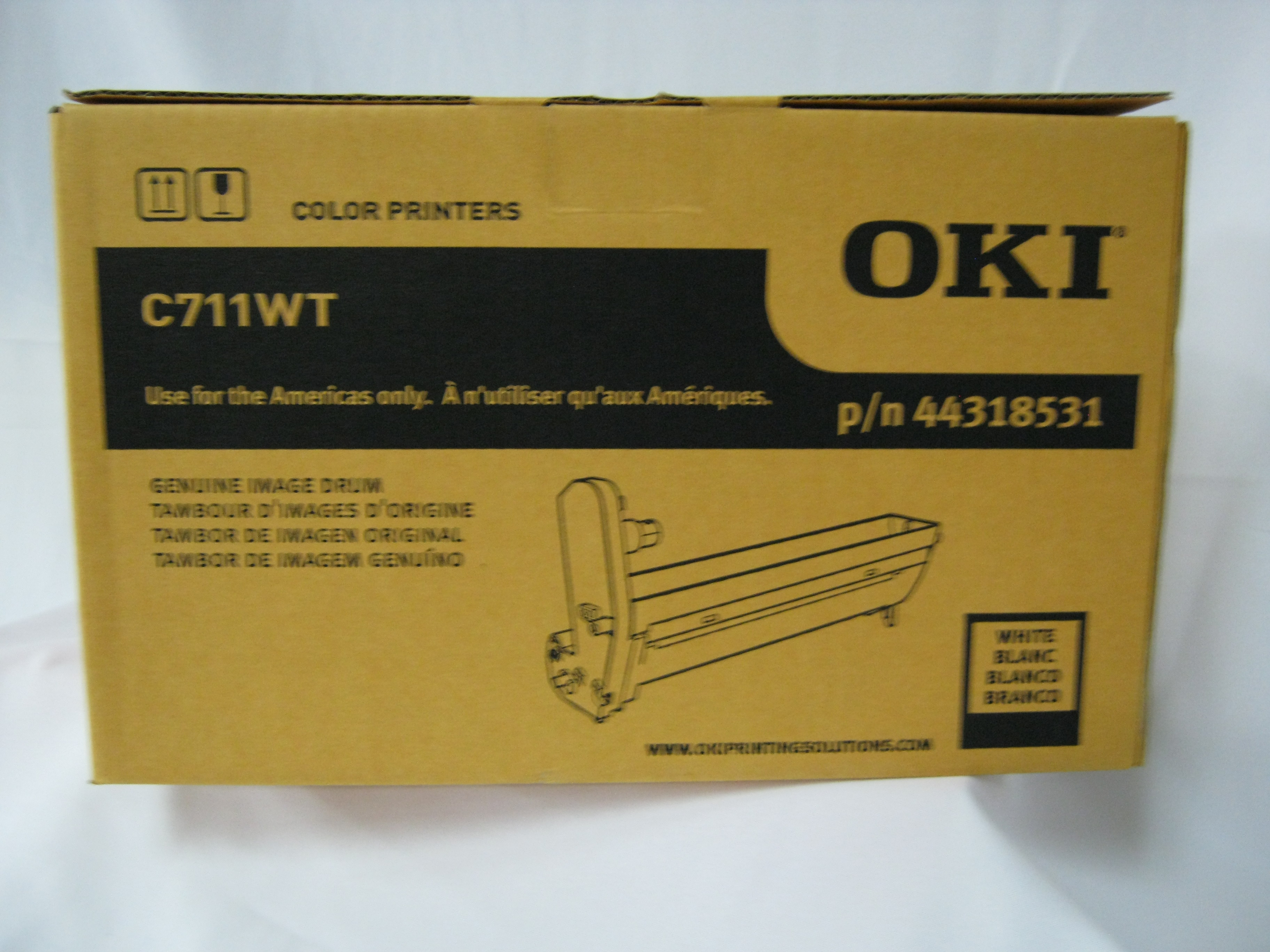 Oki Data C711WT LED CMYW Laser Printer Image Drum