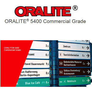 "Oralite 5400 Reflective Commercial Grade film - Red 12"" x 24"""