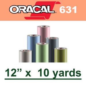 "Oracal 631 Matte Removable Adhesive Vinyl Film 12"" x 10 Yard"