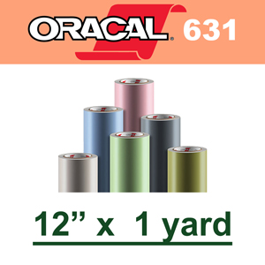 "Oracal 631 Matte Removable Adhesive Vinyl Film 12"" x 1 Yard"