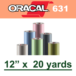 "Oracal 631 Matte Removable Adhesive Vinyl Film 12"" x 20 Yard"