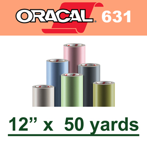 "Oracal 631 Matte Removable Adhesive Vinyl Film 12"" x 50 Yard"