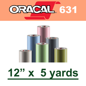 "Oracal 631 Matte Removable Adhesive Vinyl Film 12"" x 5 Yard"