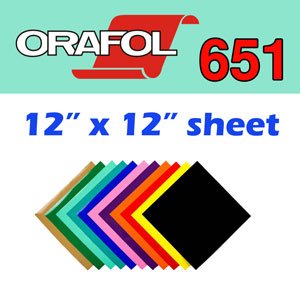 Oracal 651 Intermediate Permanent Vinyl 12x12 Sheet