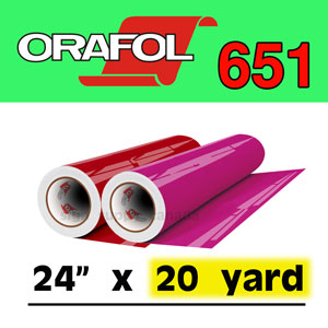 "Oracal 651 Intermediate Permanent Vinyl 24"" x 20 yard"