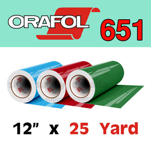 "Oracal 651 Intermediate Permanent Vinyl 12"" x 25 yard"