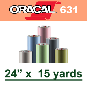 "Oracal 631 Matte Removable Adhesive Vinyl Film 24"" x 15 Yard"