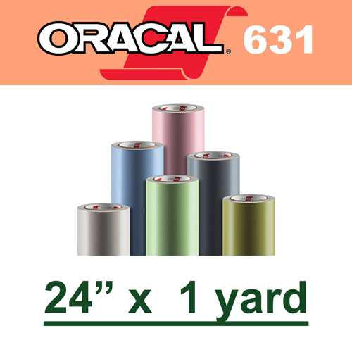 "Oracal 631 Matte Removable Adhesive Vinyl Film 24"" x 1 Yard"