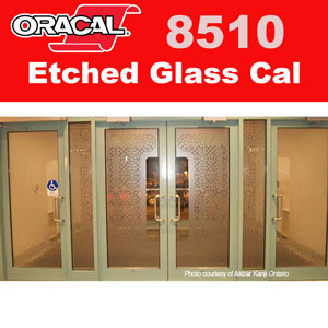 "Oracal 8510 Etched Glass - Gold 24"" x 1 Yard"