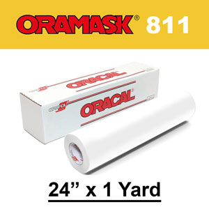 "Oracal 811 24"" x 1yd Paint Mask Stencil, Opaque White"