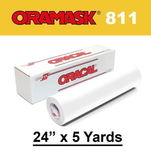 "Oracal 811 24"" x 5yds Paint Mask Stencil, Opaque White"