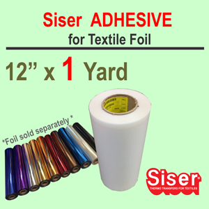 "Siser EasyWeed Adhesive 12"" X 1 Yard w/Option Foil"