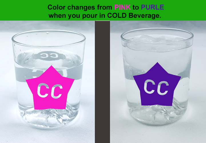 Cold color changing vinyl PINK TO PURPLE 12 x 12