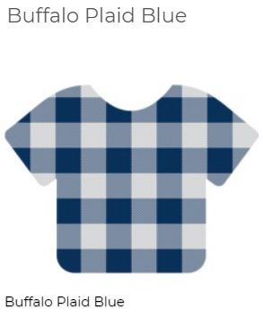 "Siser 12"" x 12"" Blue Buffalo plaid HTV Patterns"