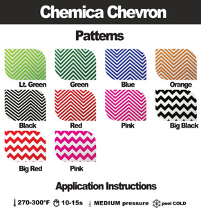 "Chemica Fashion Chevron Heat Transfer Vinyl 12""x15"" craft sheet"