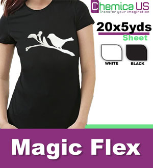 "20""x5yds Black Magic Flexi ""3D puffed"" Heat Transfer Vinyl"