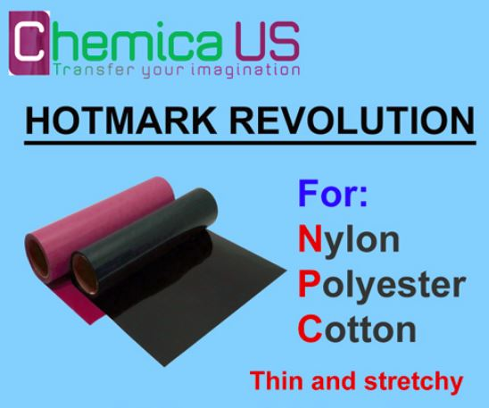 "HotMark Revolution for Nylon Cotton Polyster-Stretchy 15""x12"""