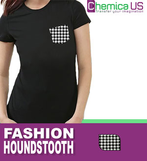 "Chemica Fashion Houndstooth Heat Transfer Vinyl 6""x15"" Craft"