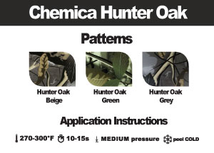 "Chemica Fashion Hunter Oak Heat Transfer Vinyl, 15"" by the Yard"