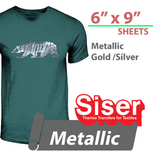 "Siser EasyWeed Metallic MIRROR Heat Transfer 6"" x 9"""