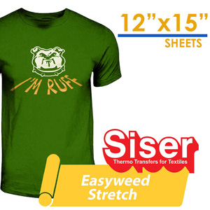 "Siser Easyweed Super STRETCH Heat Transfer Craft 12""X15"""
