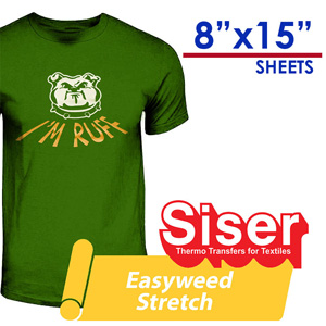 "Siser Easyweed STRETCH Heat Transfer Craft 8""X15"""