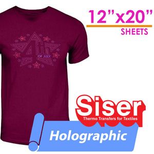 "Siser Holographic Heat Transfer 12""X20"" X 12 Sheets"