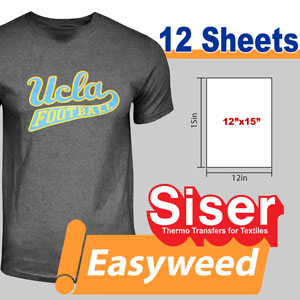"Siser easyweed 12""x15""x12 sheets"