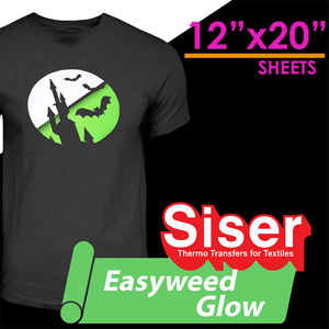 Siser EasyWeed Glow in the Dark 12'' x 20'' sheet