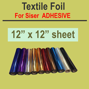 "Textile Foil for Easyweed adhesive 12"" x 12"" sheet"